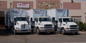 American Document Destruction trucks