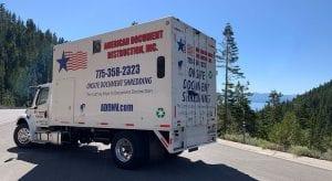 American Document Destruction shredding truck
