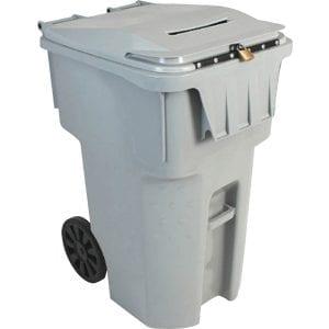 Grey shredding bins