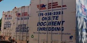 American Document Destruction shredding trucks
