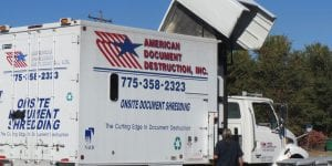 American Document Destruction truck