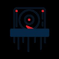 hard drive destruction icon
